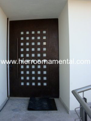 Puerta principal con cuadros detalle producto - Puertas de herreria para entrada principal ...