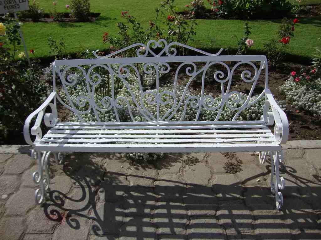 Banca con forja detalle producto - Muebles de jardin de forja ...